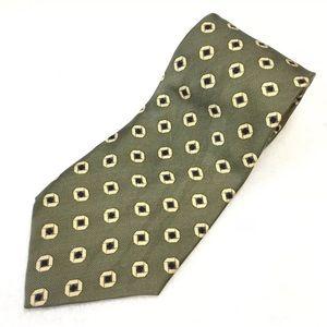 Chaps Ralph Lauren Men's Silk Tie 58X4 OliveYellow
